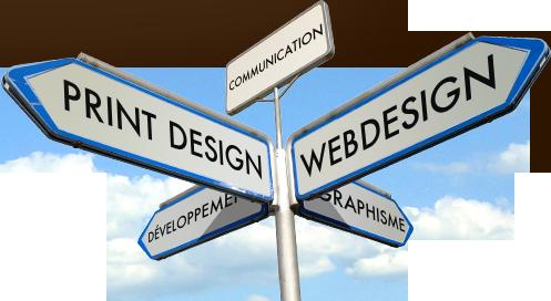 Webdesign, développement, print design et graphisme