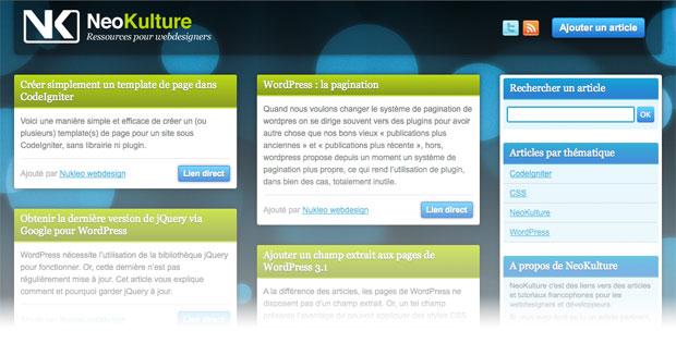 Capture d'écran de neokulture.com
